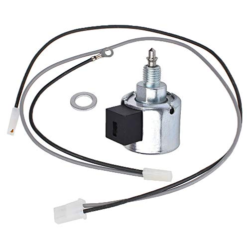 Yikesai 846639 Fuel Shut-Off Solenoid Compatible with Briggs & Stratton Fuel Cut-Off Solenoid Lawn Mover Engine Accessories with Wire