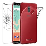 ebestStar - Coque Wiko View Go Etui Housse Silicone Gel Anti-Choc Ultra Fine Invisible, Transparent + Film Verre Trempé [NB: Lire...