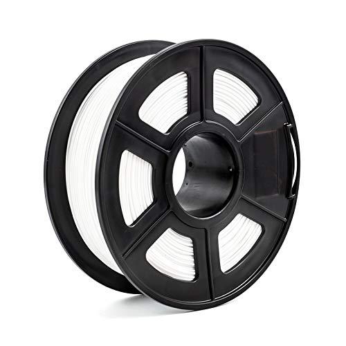 Printing Filament,Printer Filament 3D Printer Filament 1.75 PLA PETG Carbon Fiber Wood ABS Metal Eramics Nylon (Color : PETG White)