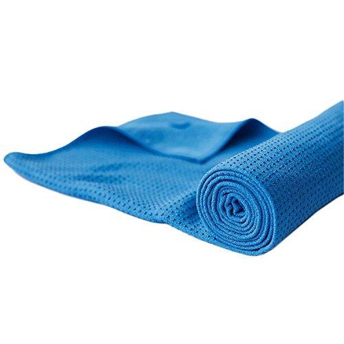 Umiwe El Yoga No Slip Mat Toalla con Perlas de Silicona - Ultra Absorbente...