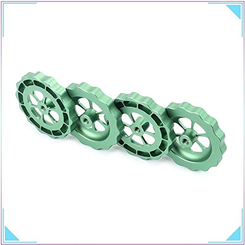 HUANRUOBAIHUO 4pcs 3D Printer Parts Big Hand Twist Leveling Nut All Metal Green For TEVO Tornado 3D Printer Ultimate Knob Leveler M5 thread 3D Printer Parts