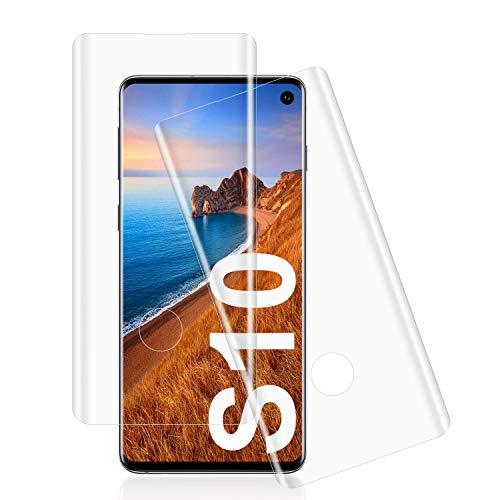 Whew [2 Stück] Panzerglas kompatibel mit Samsung Galaxy S10, Einfaches Anbringen, Bläschenfrei Schutzfolie, HD Klar, 9H Festigkeit, Anti-Kratzen, Anti-Fingerabdruck Bildschirmschutzfolie für Samsung S10
