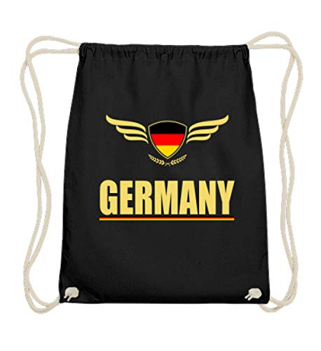 Hochwertige Baumwoll Gymsac - Deutsche Fahne Trikot Germany Fussball Fan Geschenk