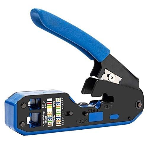 Pelacables Crimper herramienta de red de desmontaje del cable alicates Stripper for RJ45 Cat6 Cat5E CAT5 RJ12 Conector Rj11 (Color : A1)
