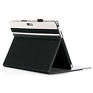 ProCase Surface Pro 7 / Pro 6 / Pro 2017 / Pro 4 / Pro LTE/Pro 3 Case – Folio Cover Case for Microsoft Surface Pro 6 / Pro 2017 / Pro 4 / Pro LTE/Pro 3, Compatible with Type Cover Keyboard –Black
