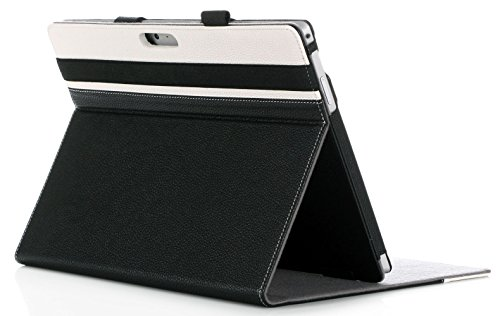 ProCase Surface Pro 7 / Pro 6 / Pro 2017 / Pro 4 / Pro LTE/Pro 3 Case - Folio Cover Case for Microsoft Surface Pro 6 / Pro 2017 / Pro 4 / Pro LTE/Pro 3, Compatible with Type Cover Keyboard –Black