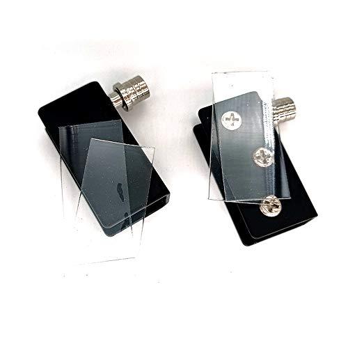 Glass Door Hinge Glass Door Pivot Hinge for Free Swinging Glass Doors Used for Cabinet Glass Pivot Door orcupboard Cabinet Glass Doors Polished Chrome Door Hinge(1Pair) (Black)
