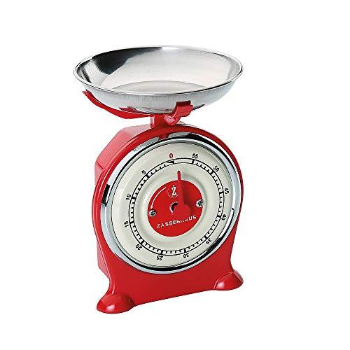 Zassenhaus Scale Minuteur de Cuisine Rouge Taille Unique