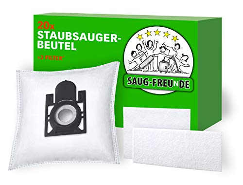 SAUG-FREUnDE I 20 Staubsaugerbeutel für Aldi, Quigg Compact Home Eco 2, Pro Nature Eco +, Eco 1600, Eco 1600 Watt, Sento Pro, Varia R-Control, Villa 1000, BS 57/5, BS 59/1,