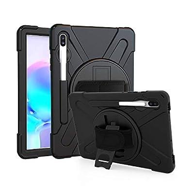 Galaxy Tab S6 10.5 T860 Case, KIQ Heavy Duty Military Shockproof Shield Cover Rugged Case for Samsung Galaxy Tab S6 10.5-inch SM-T860 (Shield)