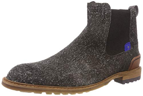 Floris van Bommel Herren 10230/14 Chelsea Boots, Grau (Dark Grey 14), 42 EU