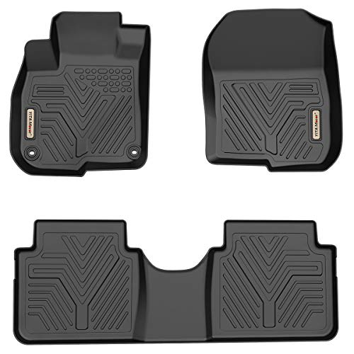 YITAMOTOR Floor Mats Black for Honda 2017-2020 CR-V, 1st & 2nd Row All Weather Protection