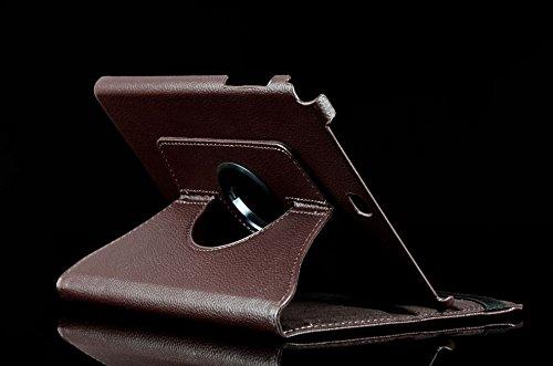 Hülle für Samsung Galaxy Tab A SM-T550 T551 T555 9.7 Zoll Schutzhülle Etui Tablet Tasche Smart Cover (Braun) Neu