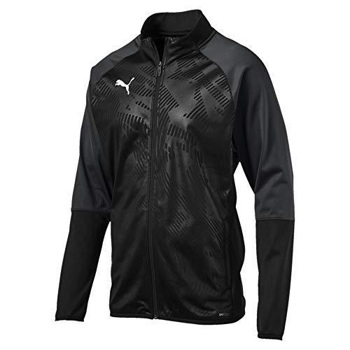 Puma Herren Cup Training Poly Jacket Core Trainingsjacke, Black-Asphalt, L
