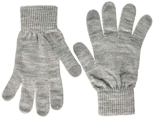 PIECES Damen PCNEW BUDDY SMART GLOVE NOOS BC Handschuhe, Light Grey Melange, ONE SIZE