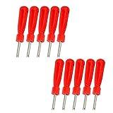 BESTOMZ Attrezzo di Installazione e rimozione valvole Pneumatici Auto (Rosso) - 10 Pezzi