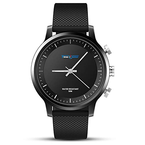 Sports Fitness Tracker Smart Watch Men Boys Women Waterproof Bluetooth Smart Wrist Watch for Android Phones iPhone (Black)