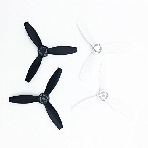 PENTAQ 4pcs/set Nylon plastique hélices accessoires Rotor pour perroquet Bebop 2 Drone Quadcopter pièces principales lames noir & blanc