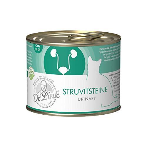 Dr. Link Spezial-Diät Harnsteine (Struvit) / Kastriert | Urinary/Castrated Geflügel und Rind |Sparpack 18 x 200 g | Nassfutter für Katzen