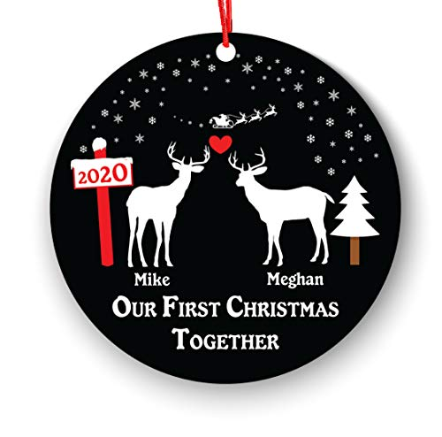 Our First Christmas Together Christmas Ornament Personalized - New Couple Lover 2018-1st 2nd Married Christmas Ornament First Married Christmas - Newlywed Christmas Ornament Deer Reindeer