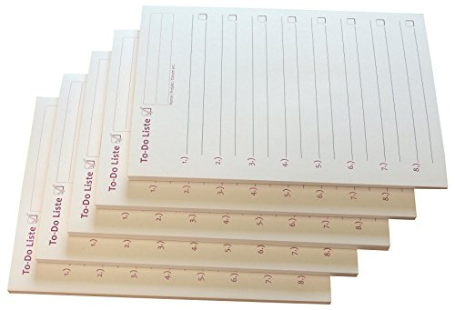 10x To-Do Liste - Notizblock für bessere Organisation und mehr Zeit - 50 Blatt, 12 x 16,8 cm, Schwarz/Rot bedruckt (22578)