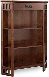 Leick Riley Holliday 3 Shelf Corner Bookcase in Mission Oak