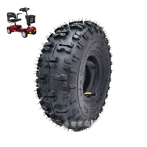 HAOJON Neumáticos para Scooters eléctricos, 4.10-4 Neumáticos neumáticos Todoterreno Resistentes al Desgaste, Profundizar el patrón Antideslizante, Adecuado para Accesorios de neumáticos para Scoot