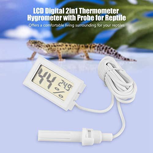 Higrômetro de alta precisão com display de LCD digital, termômetro de réptil com monitor de temperatura, para incubadoras de sala de charutos para chocadeiras de répteis
