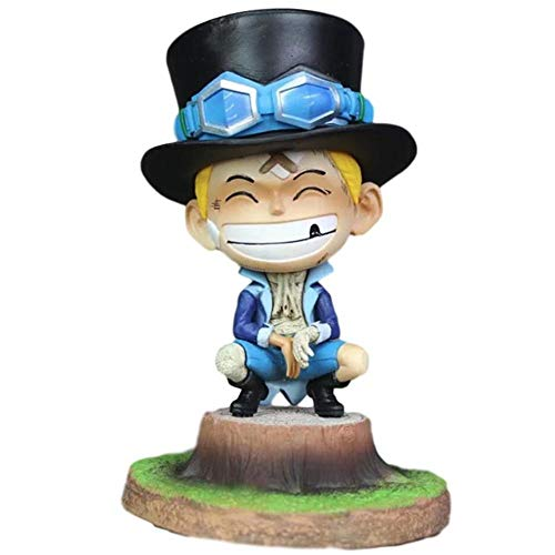 SDQDZZ High 14CM One Piece Saab Childhood Boxed Sculpture Gift Model Artwork Anime