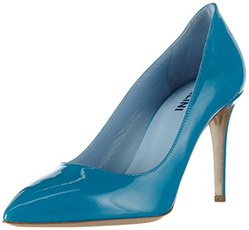 Pollini Damen SCARPAD.PRINCESS85 Vernice Turchese Pumps, Blau (702 Turquoise PATENT), 39