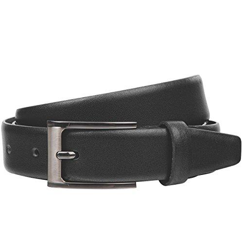 Lindenmann Mens Leather Belt/Mens Belt, black, Größe/Size:100, Farbe/Color:noir