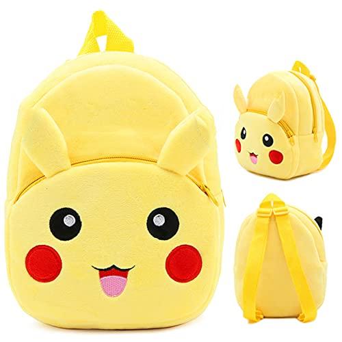 Kindergartenrucksack BAIBEI, für Kinder von 4–6 Jahren Plüsch Tier Klein Rucksack Kindergartentasche für Baby (Gelber)