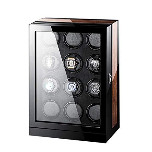 WXDP Enrollador de Reloj automático,Caja enrolladora de automática de Calibre 12, Toque Inteligente con Interruptor en Sentido horario o antihorario Movimi