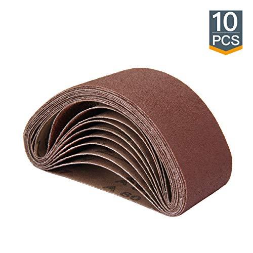 POWERTEC 401408 2-1/2-Inch x 14-Inch 80 Grit Aluminum Oxide Sanding Belt, 10-Pack