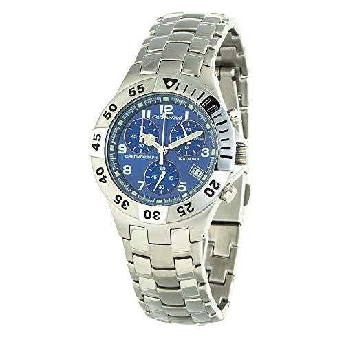 Chronotech Orologio Cronografo Quarzo Unisex Adulto con Cinturino in Acciaio Inox CT7255L-02