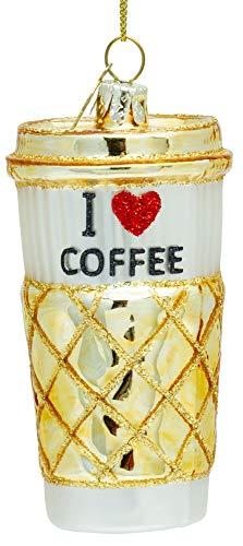SIKORA BS489 Coffee-to-Go Becher Christbaumschmuck Glas Figur Weihnachtsbaum Anhänger