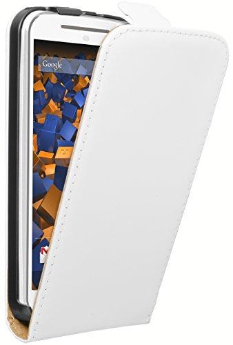 mumbi Flip Hülle für Motorola Moto G 2. Generation Tasche weiss