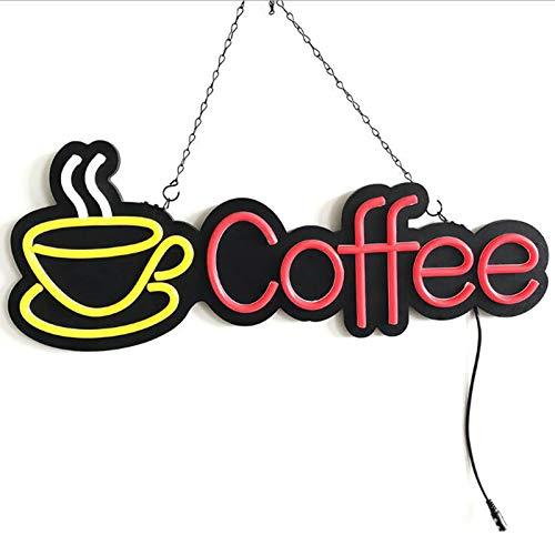 DKZ Neonzeichen LED-Kaffee-Kaffee-Shop-Eröffnungszeichen, Gebraucht Für Raumdekoration Lampe Schlafzimmer Pub Hotel Coffee Shop Restaurant Spielzimmer Wand