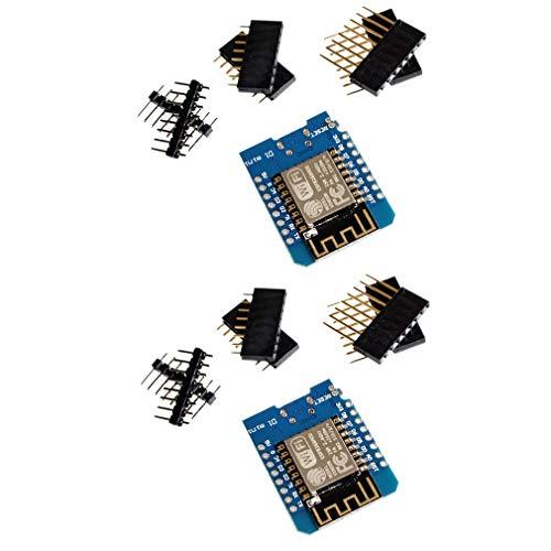 HiLetgo 2pcs D1 Mini ESP8266 ESP-12F NodeMCU Lua WeMos D1 Mini 4M Bytes WIFI Module with Pin Headers