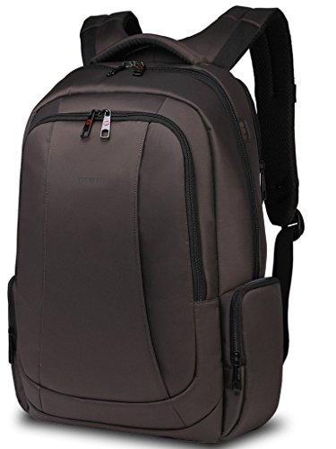 Tigernu impermeabile resistente anti-furto Zip Business Laptop Backpack-Marrone
