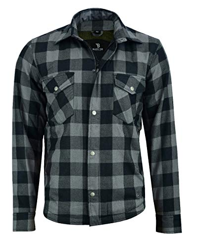 Blue, 4XL CHEST SIZ 48-50 TechStyleuk Motorcycle Covert Flannel shirt With 100/% DuPont Kevlar Lining CE Approved Armour