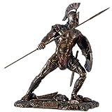 Figura desconocida del guerrero griego Aquiles, guerrero de Troya, escultura de Héctor, bronce