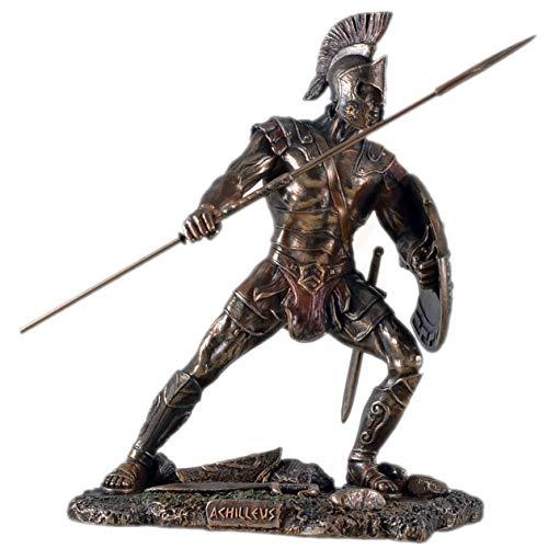 Unbekannt Figur des Achilles Griechicher Krieger Troja bronziert Skulptur Hektor