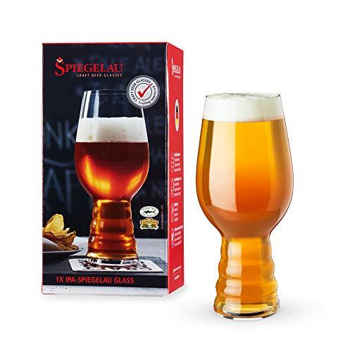 Spiegelau Craft Beer IPA Glass, Set of 1, European-Made Lead-Free Crystal, Modern Beer Glasses, Dishwasher Safe, Professional Quality Beer Pint Glass Gift Set, 19.1 oz