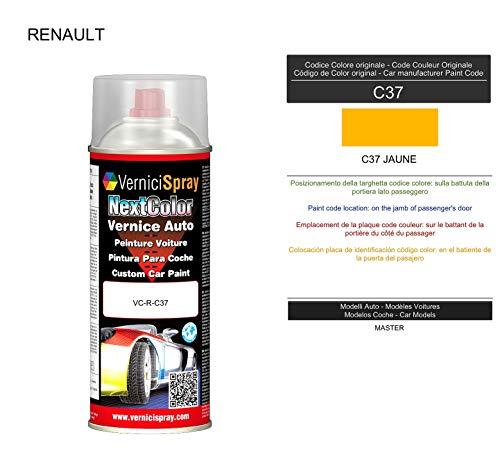 VerniciSpray C37 JAUNE Automotive Ausbesserungslack im Spray, 400 ml