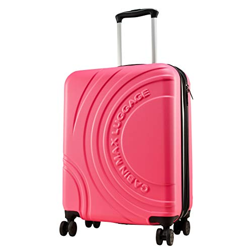 Cabin Max Velocity Expandable 4 Wheel Luggage Suitcase for Ryanair Cabin Bags 55 x 40 x 20 (Pink Punch)