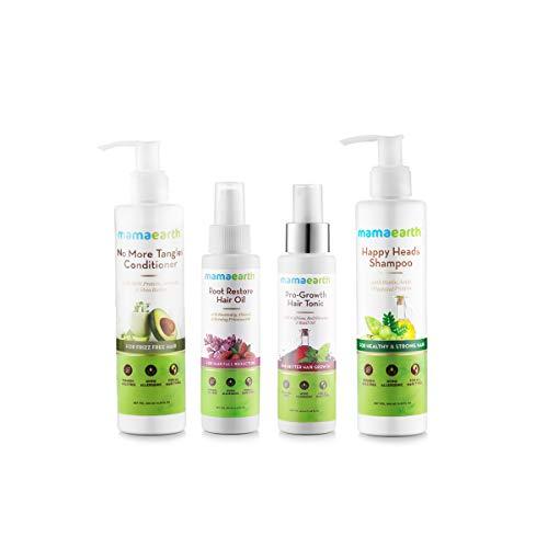 Mamaearth Anti Hair Loss Kit (Oil, Shampoo, Conditioner & Tonic)