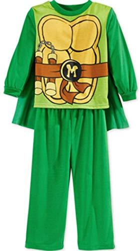 Nickelodeon Schlafanzug 86/92 Ninja Turtle Pyjama 2 t Junge Boy (86/92, Grün)