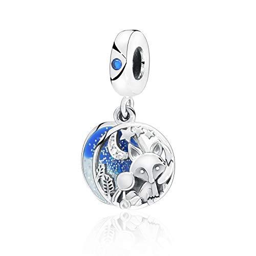 LILANG Pulsera de joyería 925 Pandora Natural Nueva colección de otoño Cuentas de Plata esterlina Fox Rabbit Dangle Charms Fit Original DIY Gifts para Mujeres