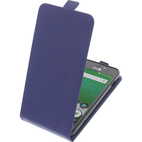 foto-kontor Tasche für Doro 8035 Smartphone Flipstyle Schutz Hülle blau